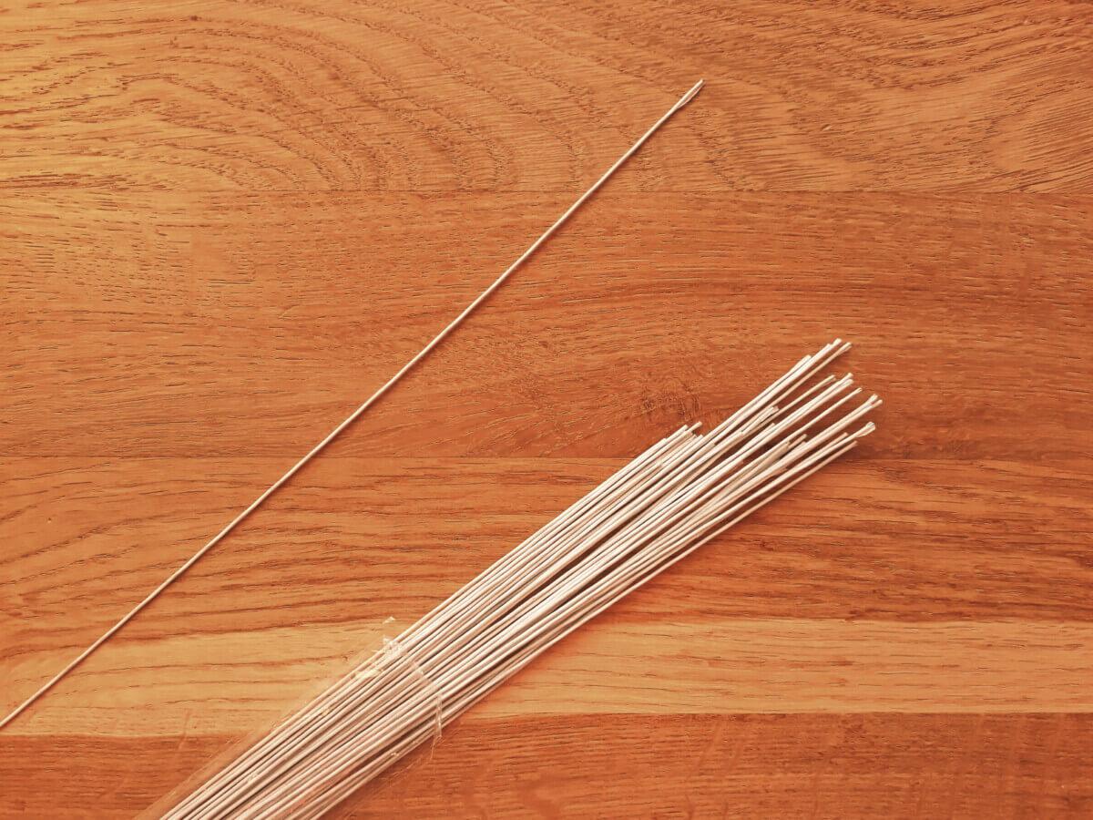 jak zrobić okrągły topper z drutu, drut florystyczny