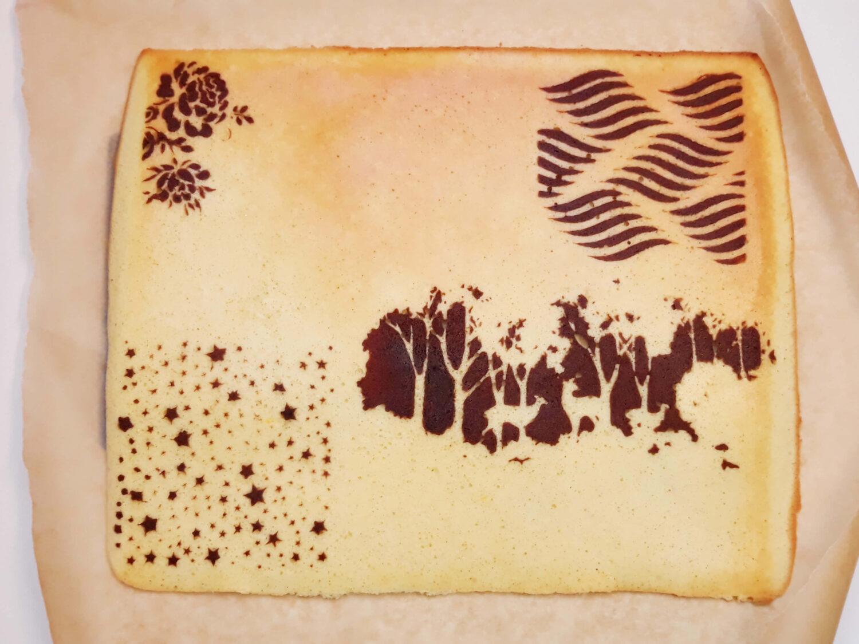 biszkopt te wzorem gotowy, papier do pieczenia