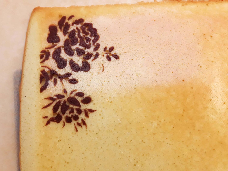 biszkopt te wzorem gotowy joconde cake, papier do pieczenia