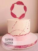 Jak zrobić błyszczący topper z piórek na tort? Tutorial.