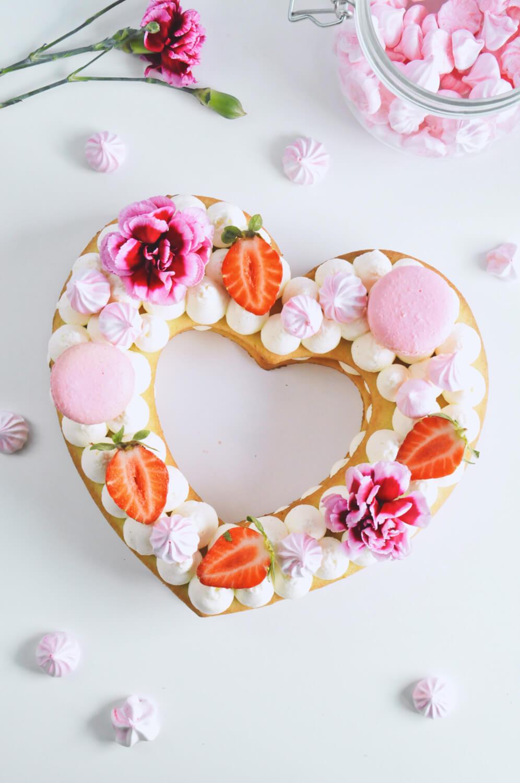 Number cake - kruchy torcik w kształcie serca