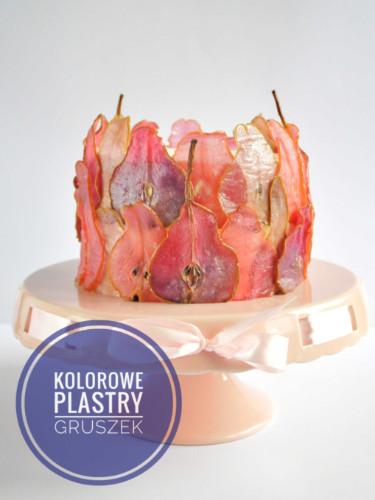 Jak zrobić kolorowe plastry gruszek do dekoracji tortu?