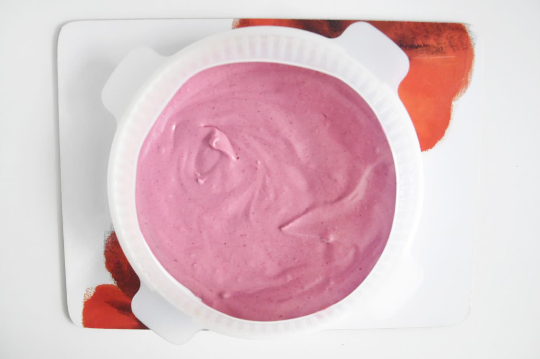 porzekowo-czekoladowy torcik musowy - składanie, okrągłą forma silikonowa