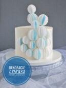 Dekoracje na tort - kule z papieru waflowego. Tutorial