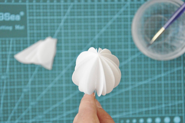 dekoracja z papieru waflowego