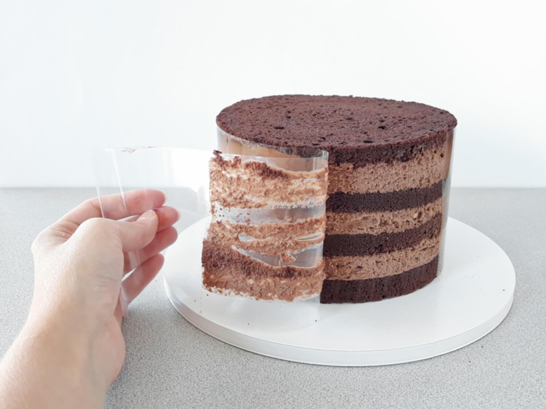 Jak złożyć idealnie prosty tort? Składanie tortu krok po kroku. tutorial, zdejmowanie foli rantowej ze złożonego tortu