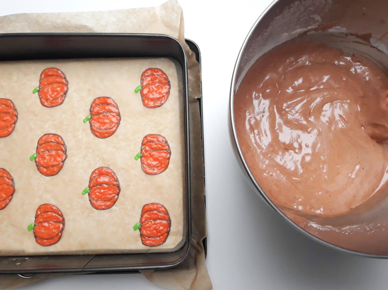 przygotowanie rolady dniowej, przygotowanie ciasta korzennego