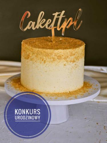 Pierwsze urodziny bloga - tort urodzinowy