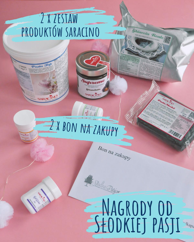 Konkurs urodzinowy - nagrody od Słodka Pasja - produkty Saracino