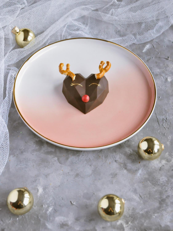Świąteczne desery renifery piernikowe - monoporcje bożonarodzeniowe, gotowy deser