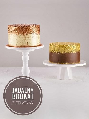 Jadalny brokat z żelatyny na tort. Metaliczna, błyszcząca ozdoba tortu.