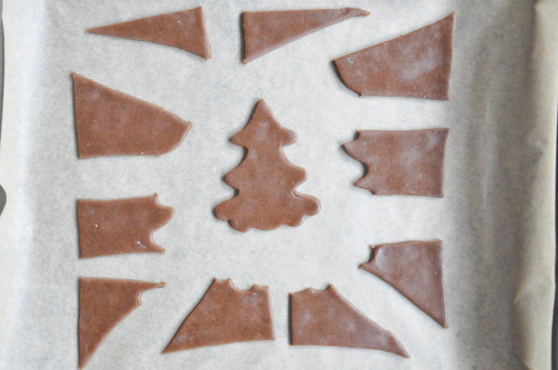 Puzzle z piernika - pieczenie