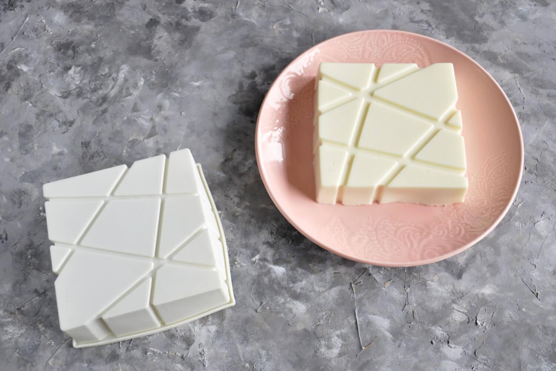 formy do ciast musowych - forma kwadratowa w linie