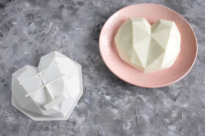 formy do ciast musowych - forma geometryczne serce