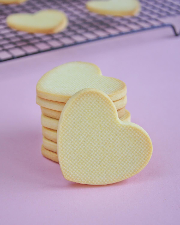 ciasteczka maslane w kształcie serc