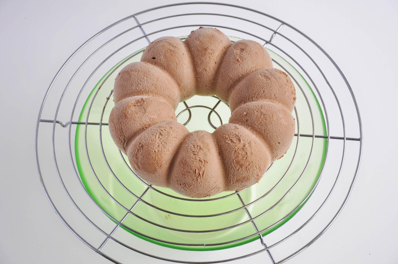 czekoladowe ciasto musowe z żelką pomarańczową