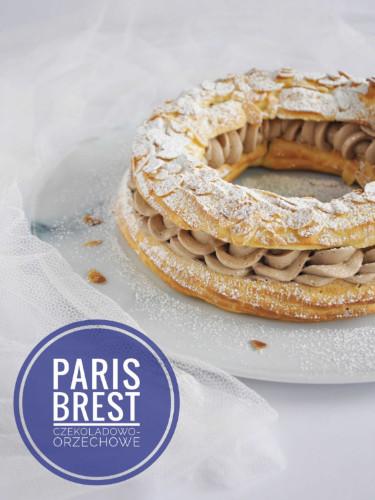 paris brest z kremem czekoladowo-orzechowym