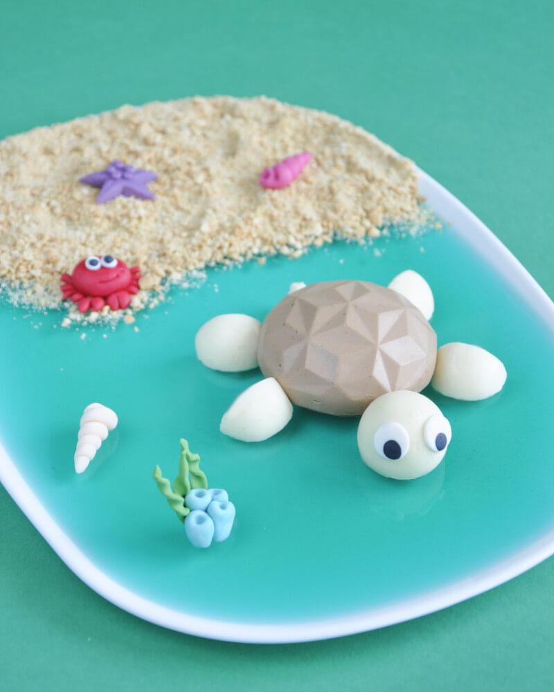 monoporcje żółwie czyli czekoladowo-kokosowy deser na Dzień Dziecka