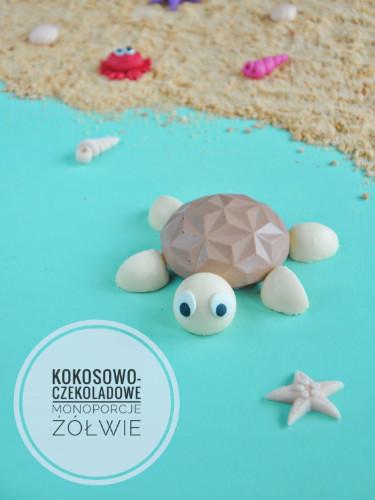 Monoporcje żółwie czyli czekoladowo - kokosowy deser na Dzień Dziecka