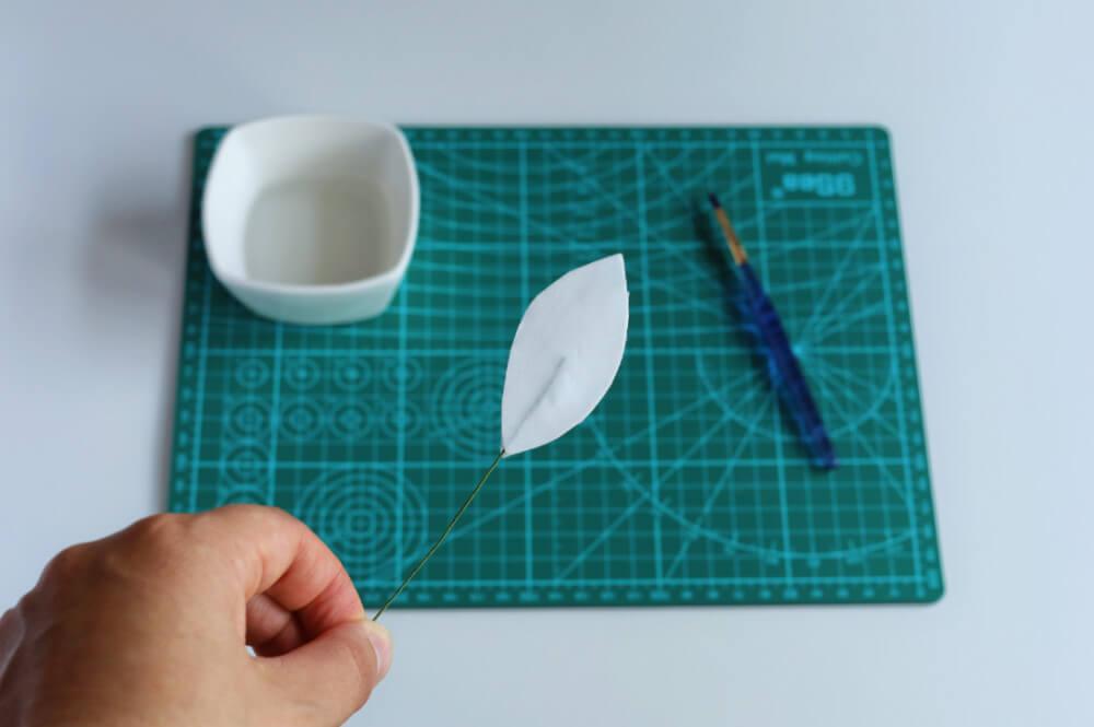przygotowanie listków z papieru waflowego