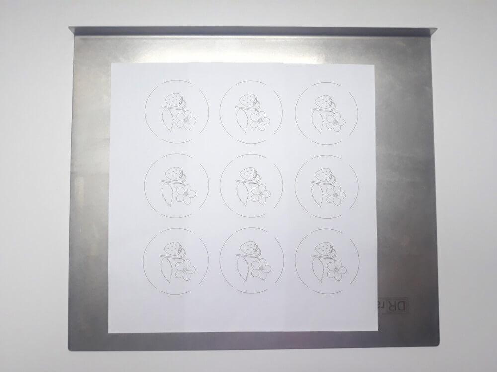 monoporcje ze wzorem - przygotowanie wzoru, wydruk, blaszka