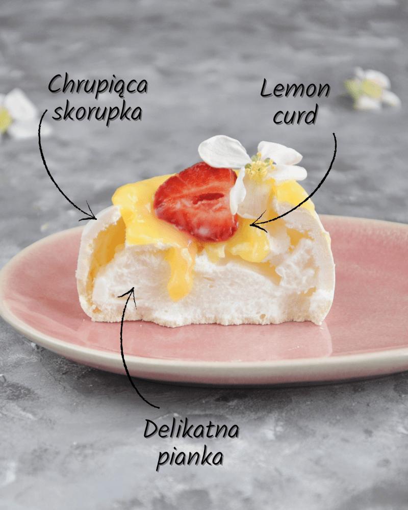 idealna mini pavlova z lemon curdem