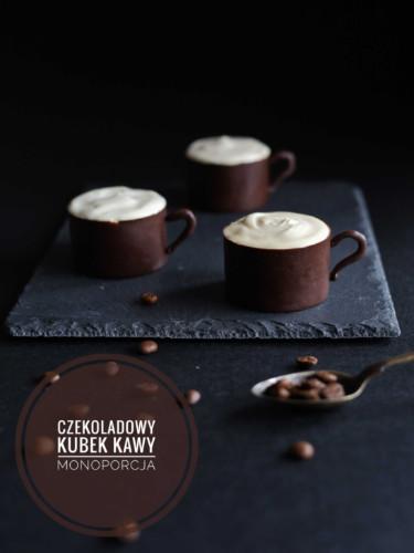 Czekoladowy kubek kawy - czekoladowo-kawowa monoporcja z likierem